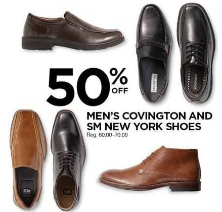Sears Black Friday: Covington & SM New York Men's Shoes - 50% OFF