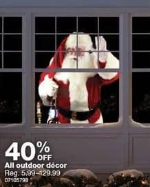 Sears Black Friday: All Outdoor Decor - 40% OFF
