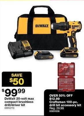 Sears Black Friday: Craftman 100-pc. Drill Bit Accessory Kit for $12.99