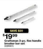 Sears Black Friday: Craftsman 3-pc. Flex Handle Breaker Bar Set for $19.99