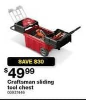 Sears Black Friday: Craftsman Sliding Tool Set for $49.99