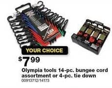 Sears Black Friday: Olympia Tools 14-pc. Bungee Cord Assortment for $7.99