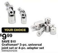 Sears Black Friday: Craftsman 4-pc. Adapter Set for $9.99