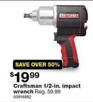 Sears Black Friday: Craftsman 1/2-in. Impact Wrench for $19.99