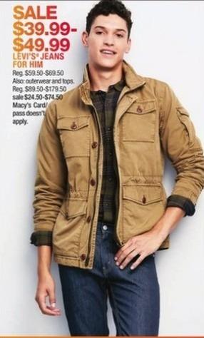 Macy's Black Friday: Levi's Men Jeans for $39.99 - $49.99