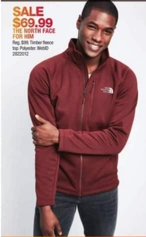 Macy's Black Friday: The North Face Mens Timber Fleece for $69.99