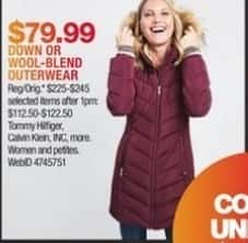 Macy's Black Friday: Tommy Hilfiger, Calvin Klein & More Down Or Wool-Blend Outerwear for $79.99