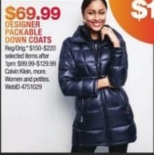 Macy's Black Friday: Designer Packable Down Coats for $69.99