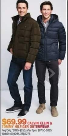 Macy's Black Friday: Calvin Klein & Tommy Hilfiger Outerwear for $69.99