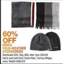 Macy's Black Friday: Calvin Klein, Tommy Hilfiger & More Men's Cold-Weather Accessories - 60% OFF