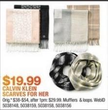Macy's Black Friday: Calvin Klein Women's Scarves for $19.99