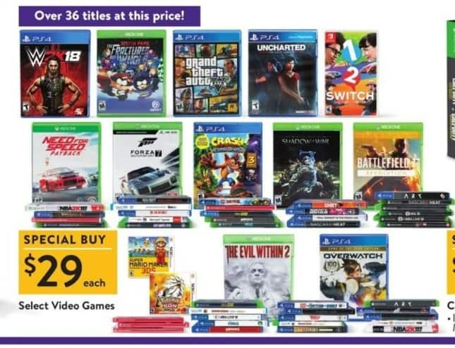 Walmart Black Friday: W2K18, Grand Theft Auto & More Select Video Games for $29.99