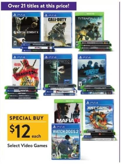 Walmart Black Friday: Deadpool, Need For Speed & More Select Video Games for $12.00