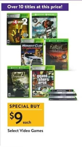 Walmart Black Friday: Left For Dead 2, Fallout 3 & More Select Video Games for $9.99