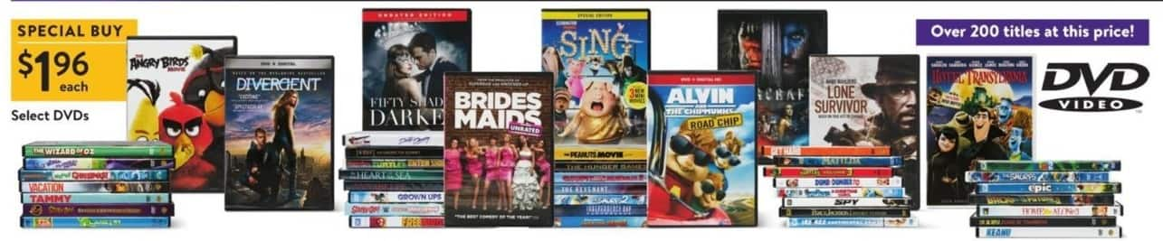 Walmart Black Friday: Angry Birds, Divergent & More Select DVDs for $1.96