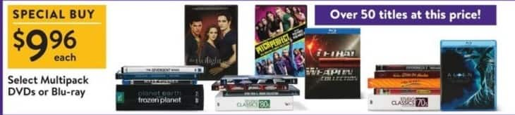 Walmart Black Friday: Pitch Perfect, Twilight & More Select DVDs Or Blu-Ray for $9.96