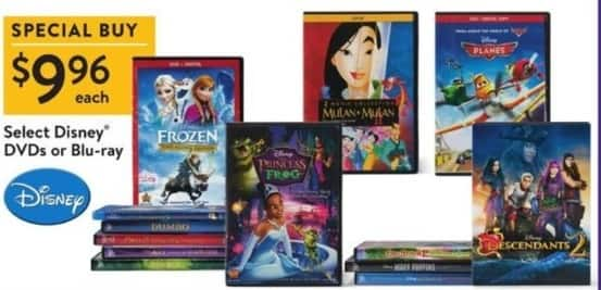 Walmart Black Friday: Frozen, Planes & More Select Disney DVDs Or Blu-Ray for $9.96