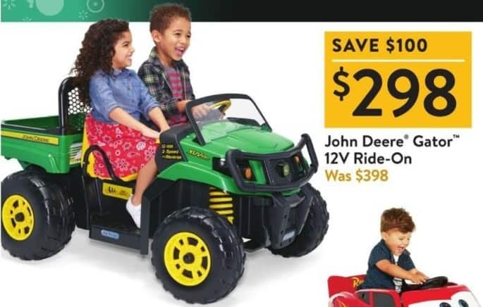 Walmart Black Friday: John Deere Gator 12V Ride-On for $298.00