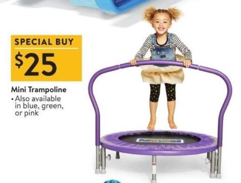 Walmart Black Friday: Mini Trampoline for $25.00