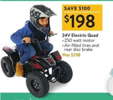 Walmart Black Friday: 24V Electric Quad for $198.00