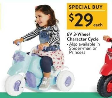 Walmart Black Friday: 6V 3-Wheel Character Cycle for $29.00