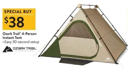 Walmart Black Friday Ozark Trail 4-Person Instant Tent for $38.00  sc 1 st  Slickdeals & Walmart Black Friday: Ozark Trail 4-Person Instant Tent for $38.00 ...