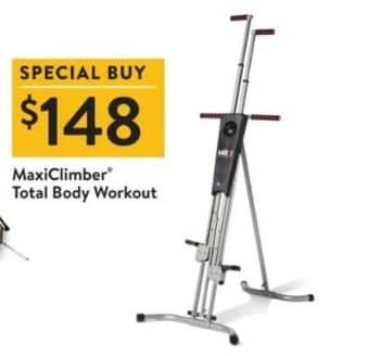Walmart Black Friday: MaxiClimber Total Body Workout for $148.00