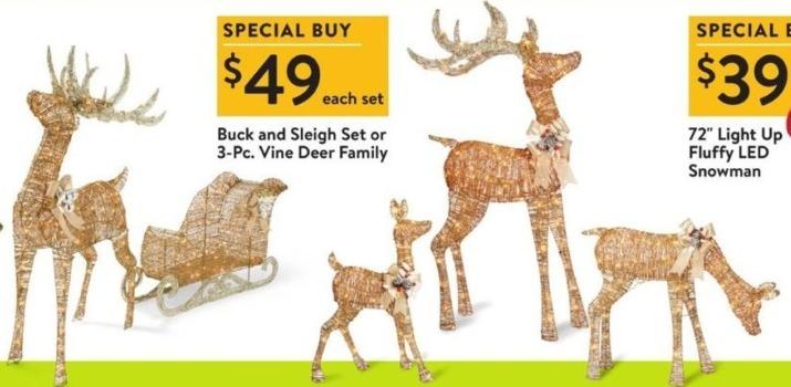 Walmart Black Friday: 3-Pc. Vine Deer Family for $49.00