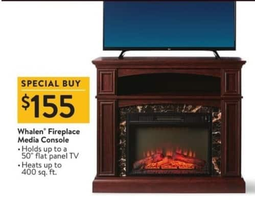 walmart black friday whalen fireplace media console for. Black Bedroom Furniture Sets. Home Design Ideas