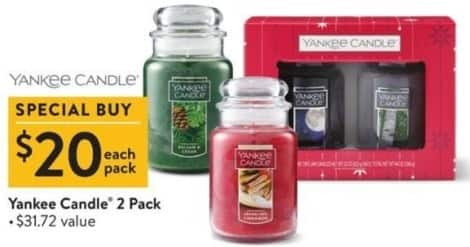 Walmart Black Friday: Yankee Candle 2 Pack for $20.00