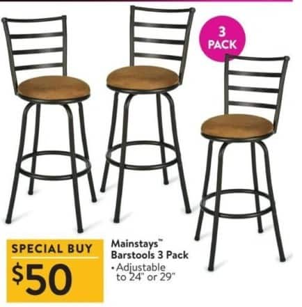 Walmart Black Friday Mainstays Barstools 3 Pack For 5000