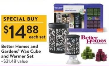 Walmart Black Friday: Better Homes And Gardens Wax Cube & Warmer Set for $14.88