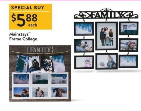 Walmart Black Friday: Mainstays Frame Collage for $5.88 - Slickdeals.net