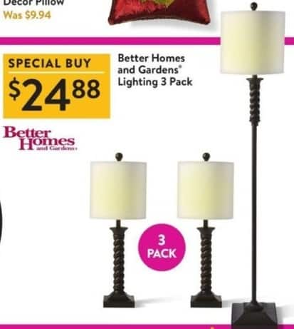 Walmart Black Friday: Better Homes And Gardens Lighting 3 Pack for $24.88