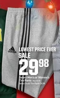 Dicks Sporting Goods Black Friday: Adidas Men's Or Women's Select Tiro Pants for $29.99