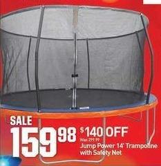 Dicks Sporting Goods Black Friday: Jump Power 14' Trampoline w/ Safety Net for $159.88