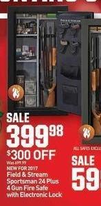 Dicks Sporting Goods Black Friday: Field & Stream Sportsman 24 Plus 4 Gun Safe w/ Electronic Lock for $399.98