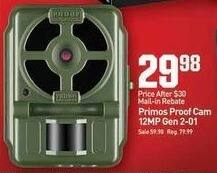 Dicks Sporting Goods Black Friday: Primos Proof Cam 12MP Gen 2-01 for $29.88 after $30.00 rebate
