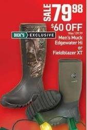 Dicks Sporting Goods Black Friday: Muck Edgewater Hi Men's Boot for $79.98