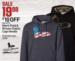 Dicks Sporting Goods Black Friday: Field & Stream Mens Classic Logo Hoodie for $19.98