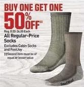 Dicks Sporting Goods Black Friday: All Regular-Price Socks - B1G1 50% OFF