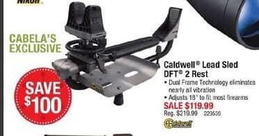 Cabelas Black Friday: Caldwell Lead Sled DFT 2 Rest for $119.99