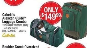 Cabelas Black Friday: Cabela's Alaskan Guide Luggage Combo for $149.99