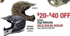 Cabelas Black Friday: Sigi Helmets - $20-$40 OFF