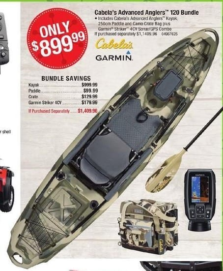 Cabelas Black Friday: Cabela's Advanced Anglers 120 Bundle for $899.99