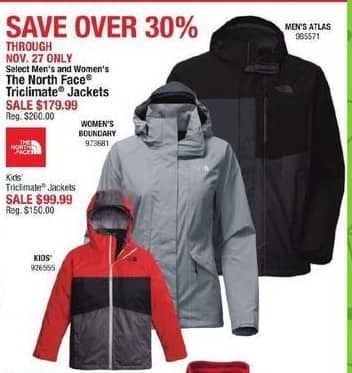 Cabelas Black Friday: The North Face Men's Triclimate Jacket for $179.99