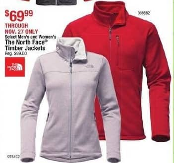 Cabelas Black Friday: The North Face Women's Timber Jacket for $69.99
