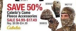 Cabelas Black Friday: Cabela's Camo Fleece Accessories for $4.99 - $17.49