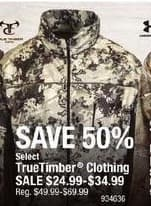Cabelas Black Friday: TrueTimber Clothing for $24.99 - $34.99