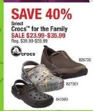 Cabelas Black Friday: Crocs For The Family for $23.99 - $35.99